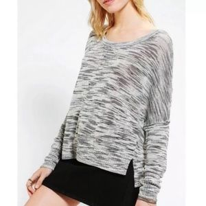 Anthropologie Silence + Noise gray knit sweater